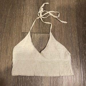 Crochet Halter Crop Top  for sale !